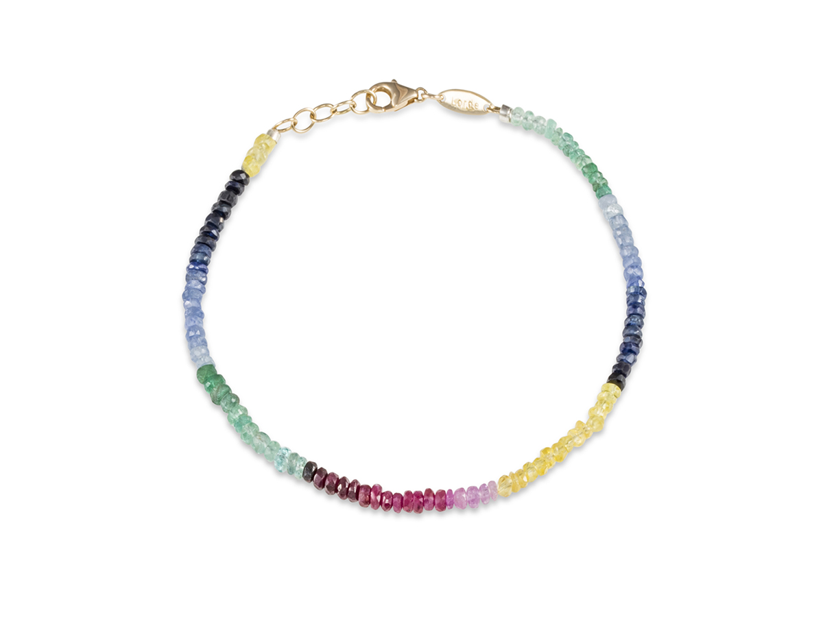 Precious-Natural-Emerald-Ruby-Blue-sapphire-Beaded-and-Yellow-gold-Bracelet-1