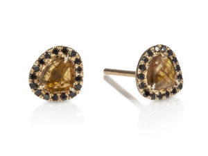 mini-diamond-slice-stud-earrings-yellow-and-black-2