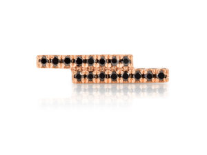 Stud Earring Storm Rose and Black-1