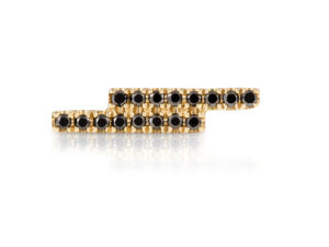 Stud Earring Storm Yellow and Black-1
